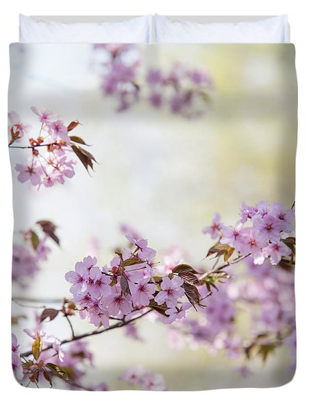 Duvet Cover featuring the photograph In Bloom. Spring Watercolors by Jenny Rainbow
