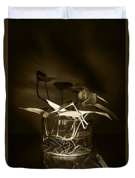 In Brown Light Duvet Cover by Rajiv Chopra