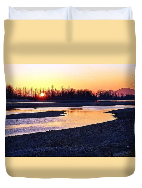 The Fraser River Duvet Cover