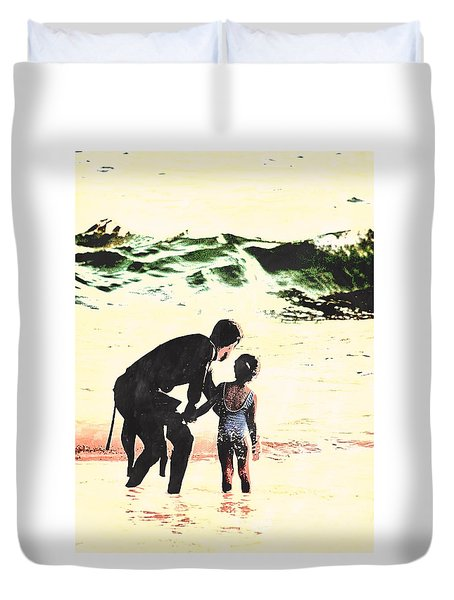In Daddy's Arms Duvet Cover
