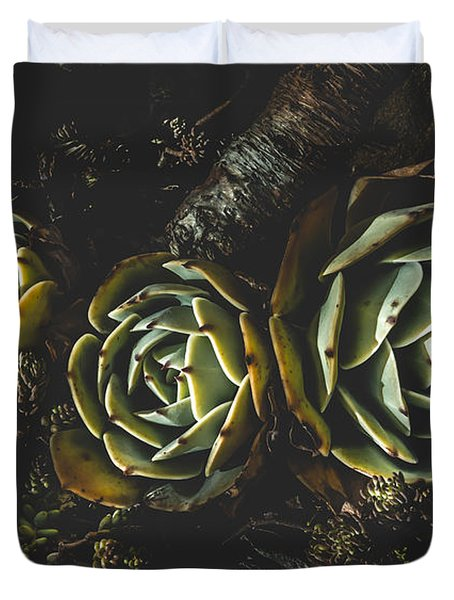 In Dark Bloom Duvet Cover