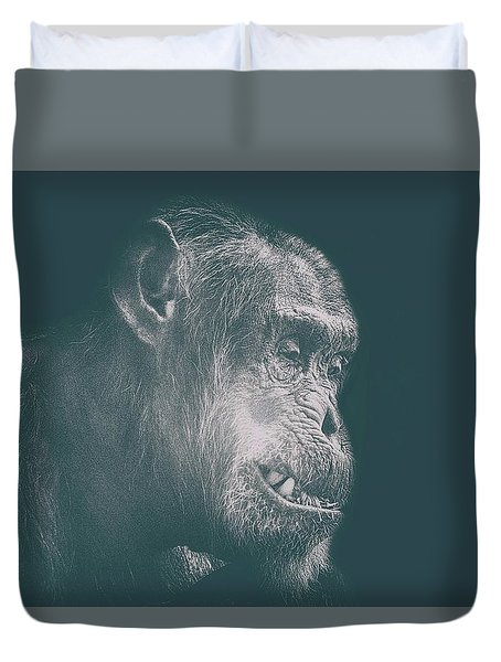 In Deep Thought Duvet Cover