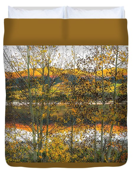 Duvet Cover featuring the photograph In Early Morning Light by Tim Reaves