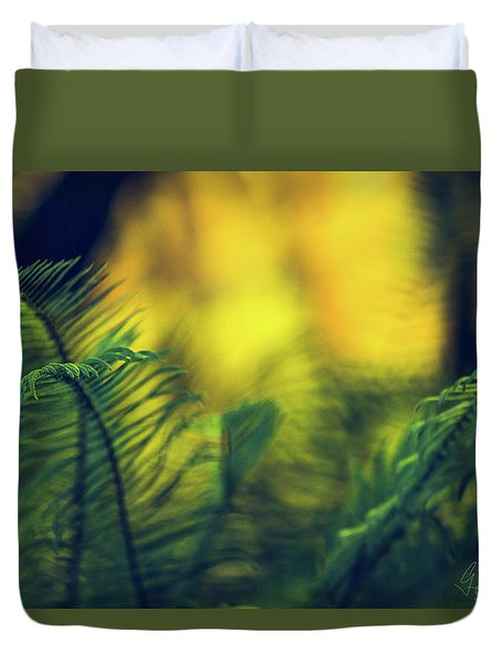 Duvet Cover featuring the photograph In-fern-o by Gene Garnace