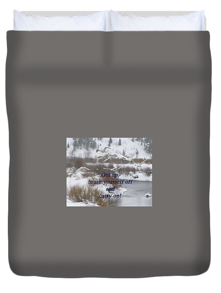 In Flight Carry On Duvet Cover by DeeLon Merritt
