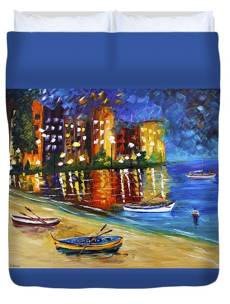 In For The Night Duvet Cover