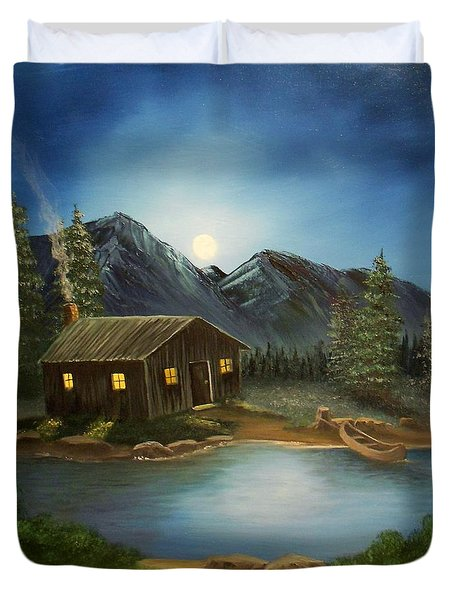 In For The Night Duvet Cover by Sheri Keith