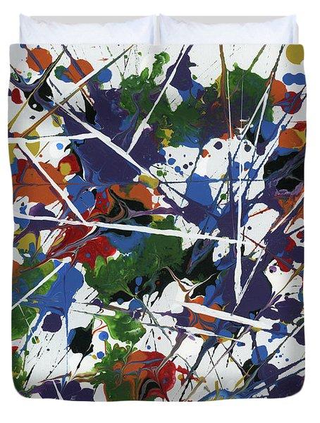 In Glittering Rainbow Shards Duvet Cover