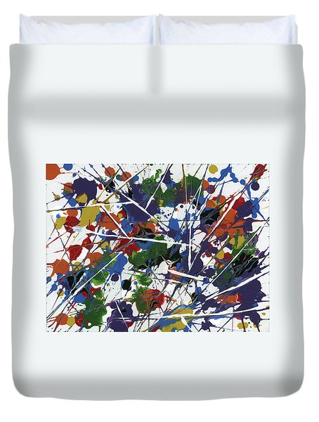 In Glittering Rainbow Shards Duvet Cover