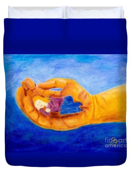 In God's Hand Duvet Cover
