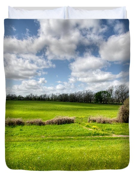 In Green Pastures Duvet Cover