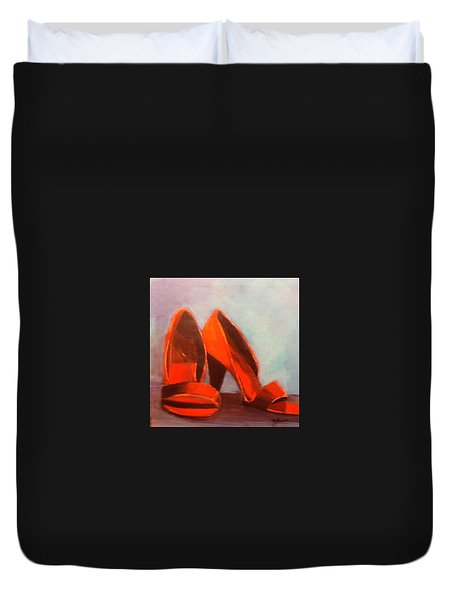 In Her Shoes Duvet Cover