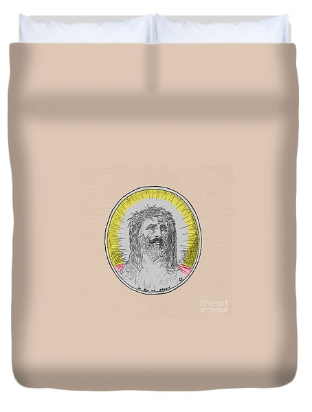 In Him We Trust Colorized Duvet Cover