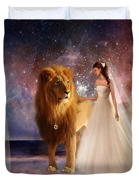 In His Presence  With Title Duvet Cover