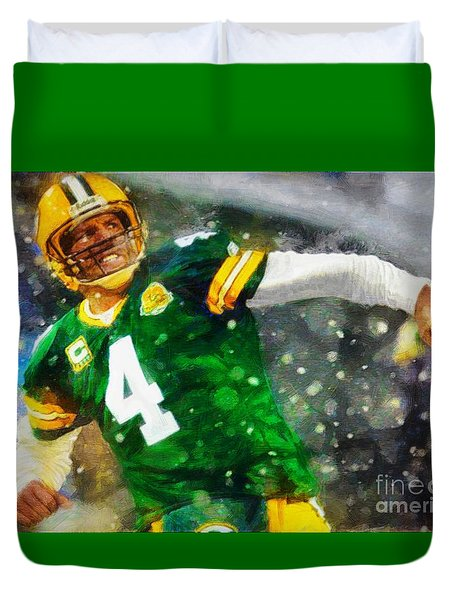 In Honor Of Number 4 The Living Legend Duvet Cover