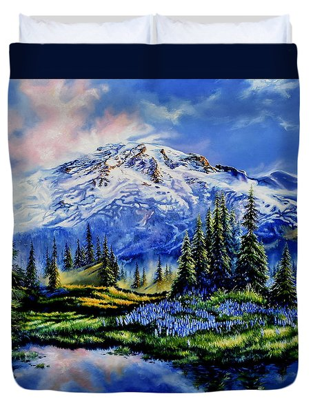 Duvet Cover featuring the painting In Joyful Harmony by Hanne Lore Koehler