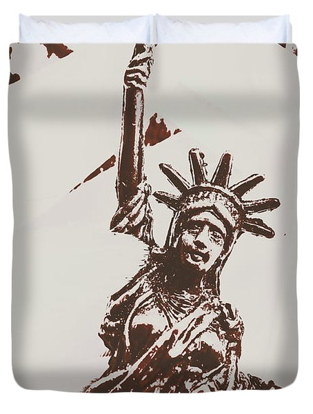 In Liberty Of New York Duvet Cover