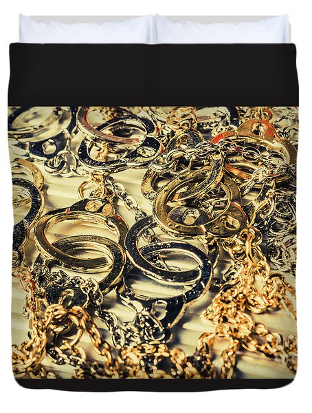 In Locks And Chains Duvet Cover