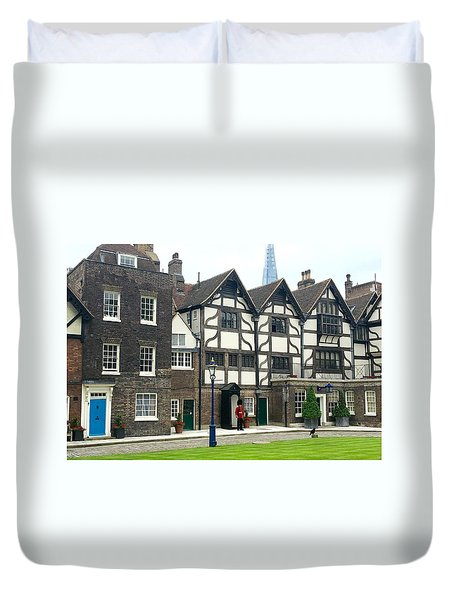 In London Duvet Cover by Nancy Ann Healy