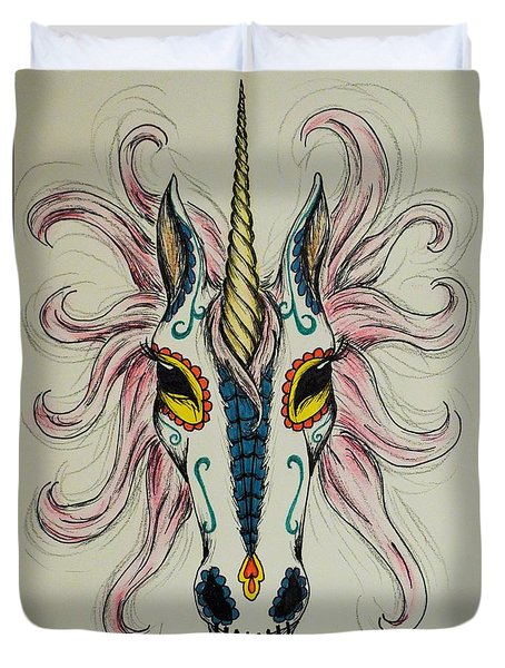 In Memory Of The Long Lost Unicorn Duvet Cover