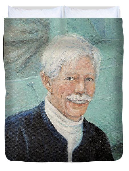 Duvet Cover featuring the painting In Memory Of Uncle Bud by Donna Tucker