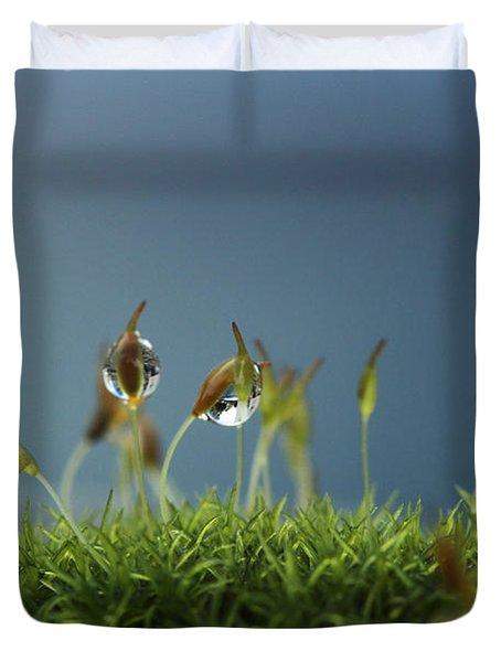 In Moss World .. Rain Duvet Cover