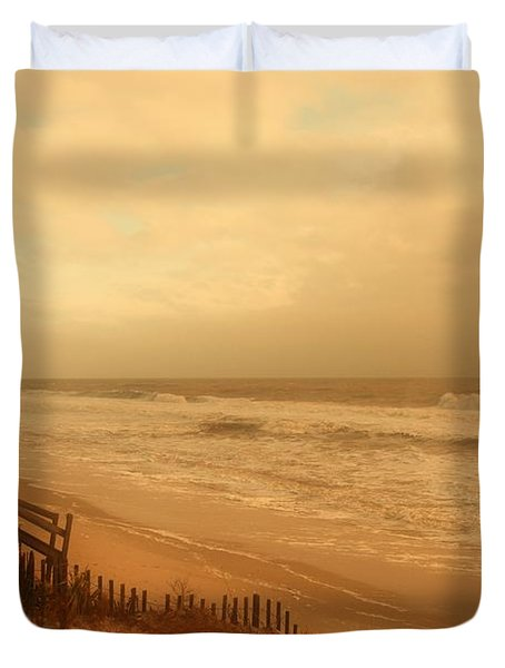 In My Dreams The Ocean Sings - Jersey Shore Duvet Cover