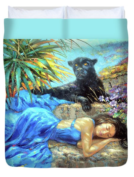 In One's Sleep Duvet Cover