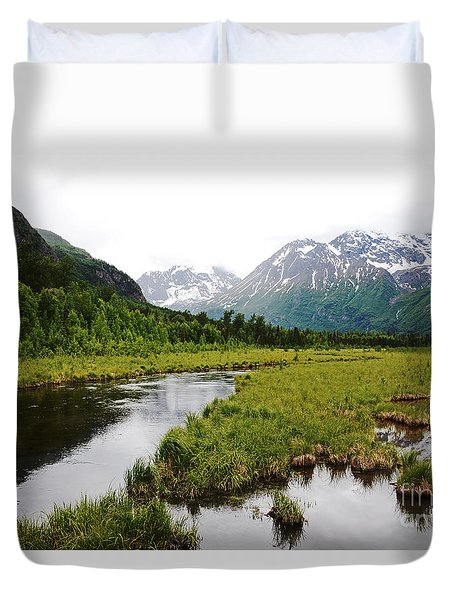 In Road To Denali Duvet Cover