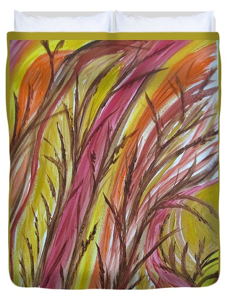 In Rushes Fall Duvet Cover by Sharyn Winters