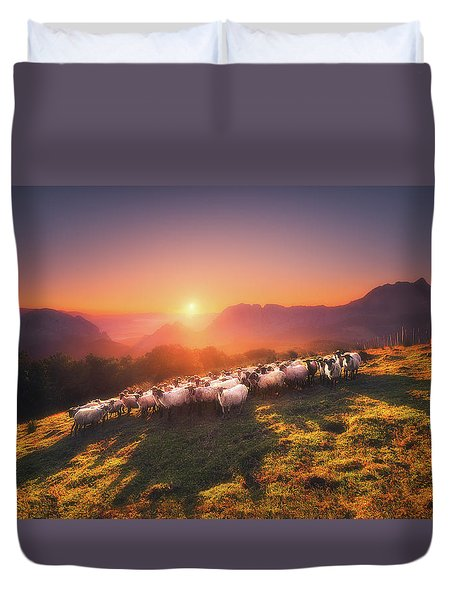 In Saibi With Companionsheep Duvet Cover