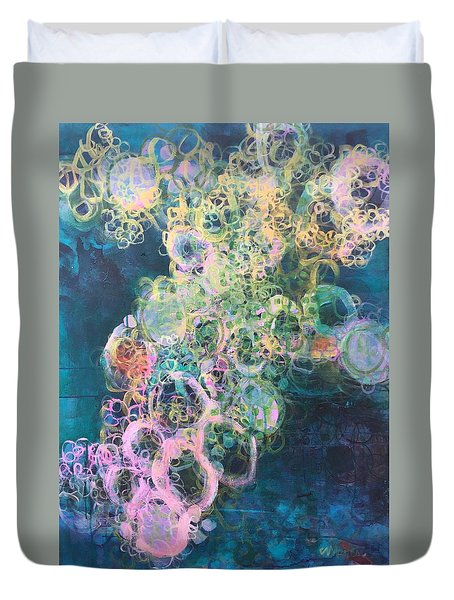 Duvet Cover featuring the painting In Search Of Tom Petty by Laurie Maves ART