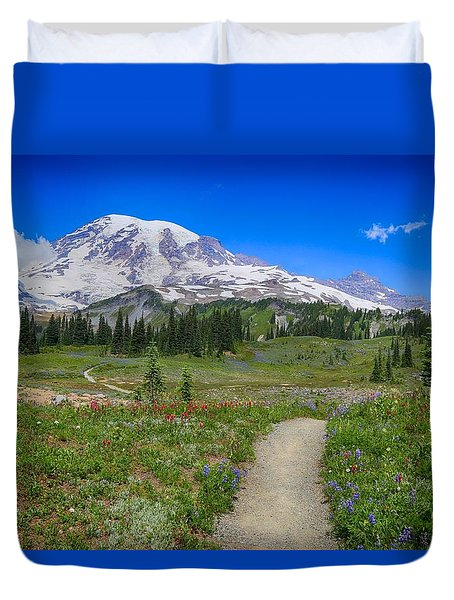 In Search Of Wildflowers Duvet Cover