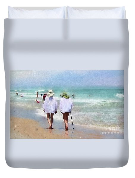 In Step With Life Duvet Cover