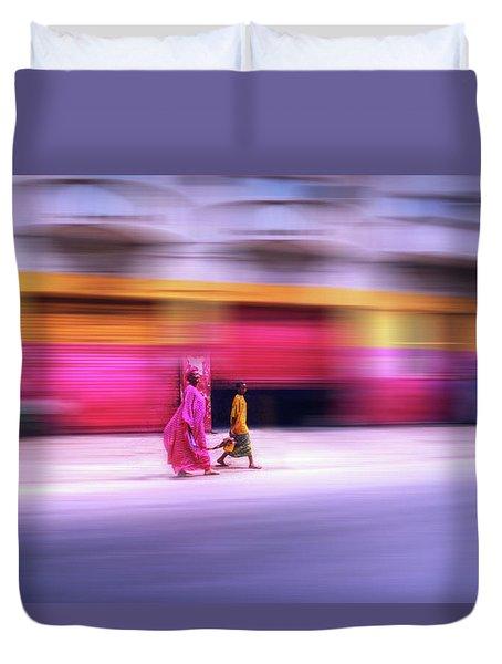 In Sync In Senegal Duvet Cover