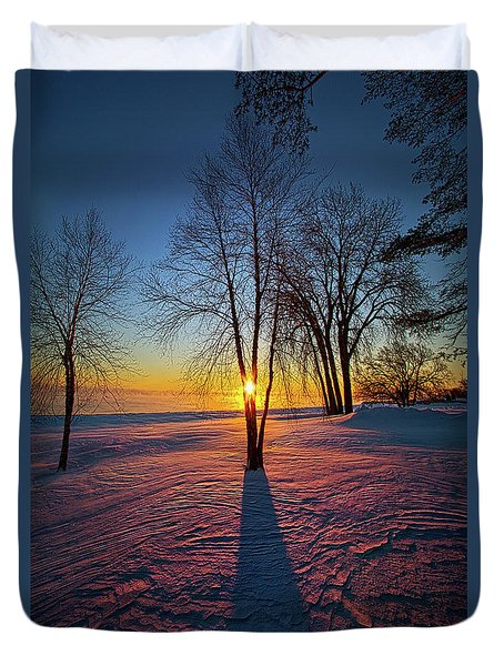 Duvet Cover featuring the photograph In That Still Place by Phil Koch
