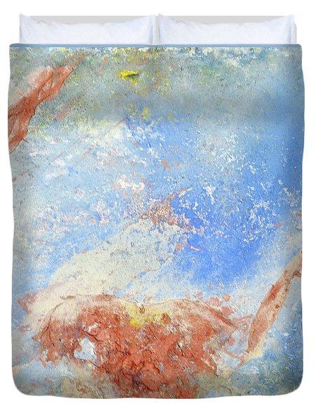 In The Beginning Duvet Cover