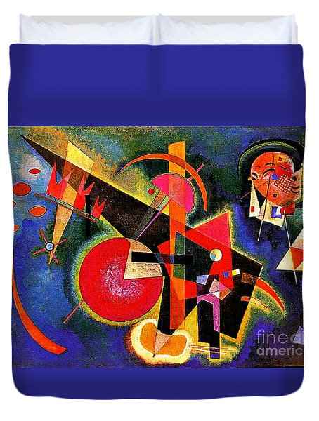 In The Blue Duvet Cover by Kandinsky