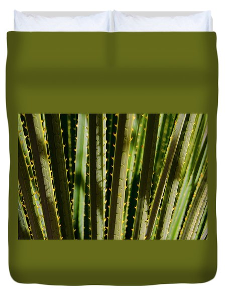 In The Cactaceae Weeds Duvet Cover