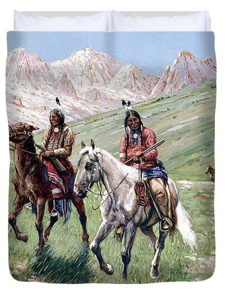 In The Cheyenne Country Duvet Cover by John Hauser
