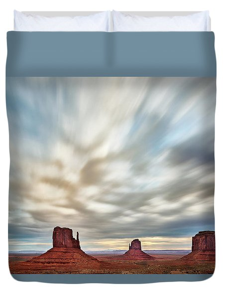 Duvet Cover featuring the photograph In The Clouds by Jon Glaser