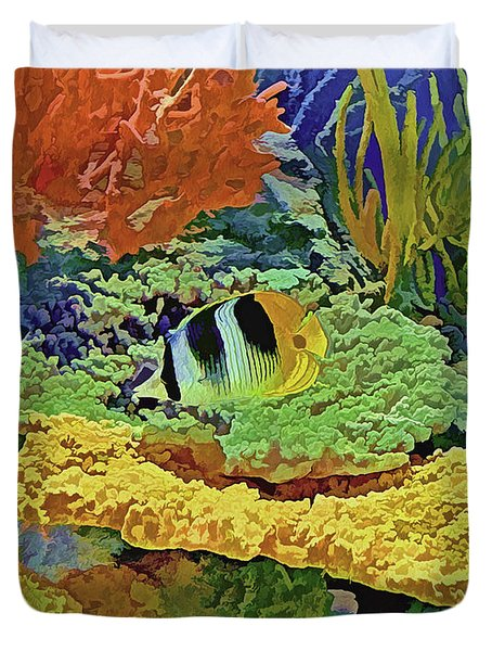 In The Coral Garden 10 Duvet Cover