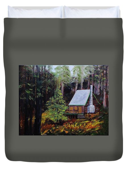 In The Deep Woods Duvet Cover by Mike Caitham