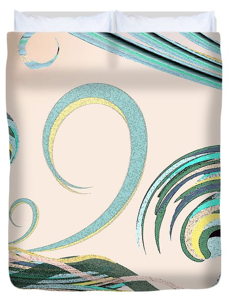Duvet Cover featuring the digital art In The Drink by Deborah Smith