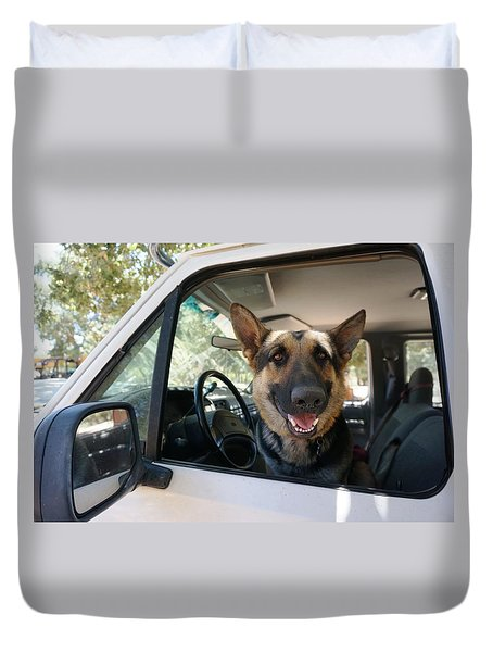 In The Driver's Seat  Duvet Cover