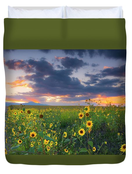 Duvet Cover featuring the photograph In The Evening Light by Tim Reaves