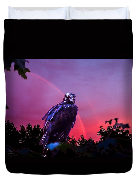 In The Eye Of A Hawk Duvet Cover