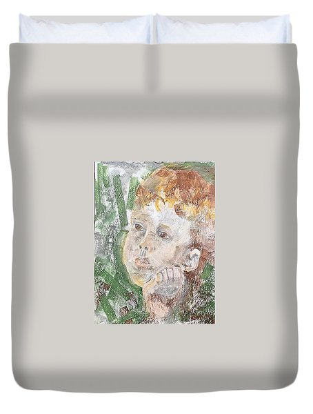In The Eyes Of A Child Duvet Cover