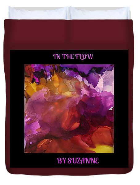 In The Flow Duvet Cover by Suzanne Canner