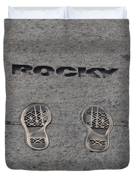 In The Footsteps Of Rocky Duvet Cover by Bill Cannon